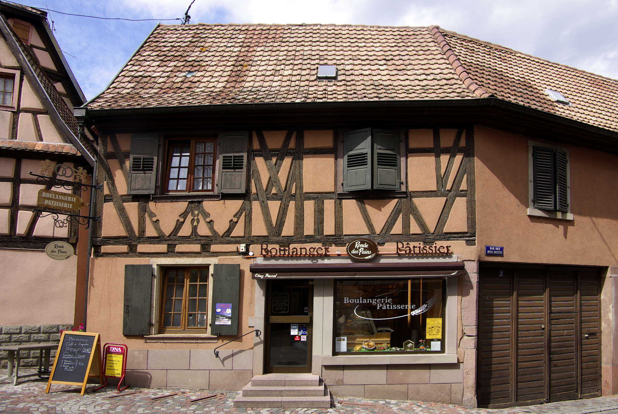 façade de la boulangerie Chez Pascal à Dambach-la-Ville