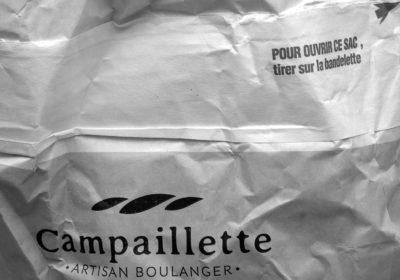 sac Campaillette en noir et blanc